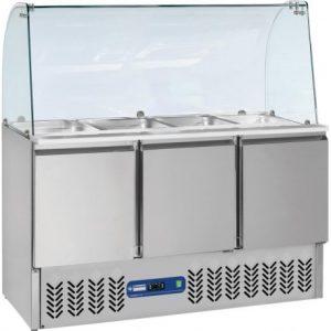 saladette-frigorifique-3-portes-380-litres-vitre-bombee